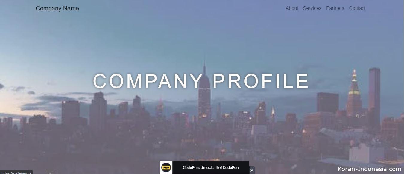 Cara Membuat Web Company Profil dengan HTML CSS
